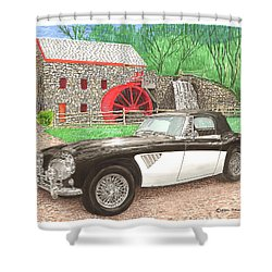 1963 Austin And Sudbury Mill Shower Curtain by Jack Pumphrey