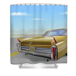 1963 Cadillac De Ville Shower Curtain by Marty Garland