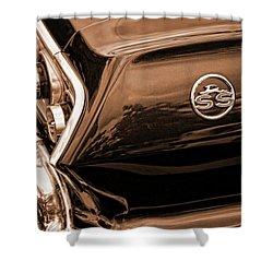 1963 Chevy Impala Ss Sepia Shower Curtain by Gordon Dean II