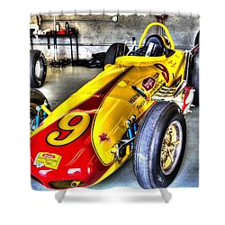 1963 Eddie Sachs Indy Car Shower Curtain by Josh Williams