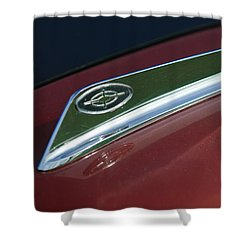 1963 Ford Galaxie Hood Ornament Shower Curtain by Jill Reger