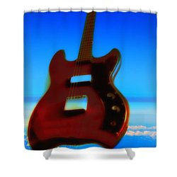 1963 Guild Jet Star Shower Curtain by Bill Cannon