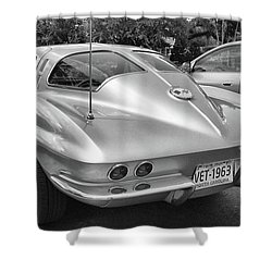 1963 Split Rear Window Coupe Shower Curtain