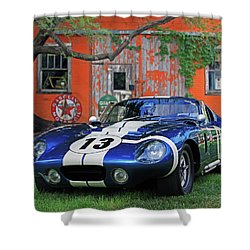 Shower Curtain featuring the photograph 1964 Cobra Daytona Coupe by Christopher McKenzie