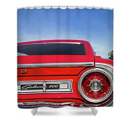 1964 Ford Galaxie 500 Taillight And Emblem Shower Curtain