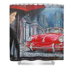 1964 Porsche 356 Coupe Shower Curtain