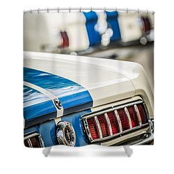 Shower Curtain featuring the photograph 1965 Ford Shelby Mustang Gt 350 Taillight -1037c by Jill Reger