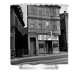 Shower Curtain featuring the photograph 1965 Jack's Celtic Tavern Boston by Historic Image