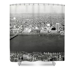 1965 Mit Cambridge And Boston's Back Bay Shower Curtain