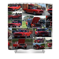 1965 Mustang Fastback Collage Shower Curtain