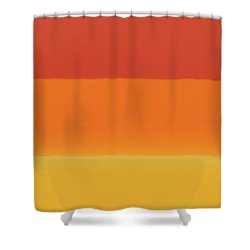 1966 Bands In Red, Orange And Yellow Shower Curtain