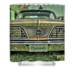 1966 Barracuda Front Shower Curtain