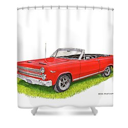 1966 Mercury Cyclone Convertible G T Shower Curtain by Jack Pumphrey