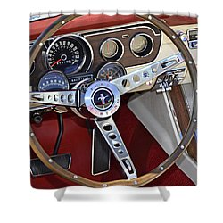 1966 Mustang Shower Curtain by Paul Mashburn
