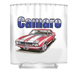 Shower Curtain featuring the digital art 1967 Camaro by Thomas J Herring