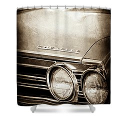 Shower Curtain featuring the photograph 1967 Chevrolet Chevelle Ss Super Sport Emblem -0413s by Jill Reger