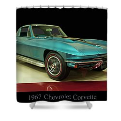 Shower Curtain featuring the digital art 1967 Chevrolet Corvette 2 by Chris Flees