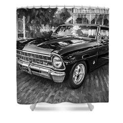 1967 Chevrolet Nova Super Sport Painted Bw 1 Shower Curtain