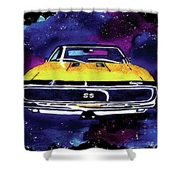 Shower Curtain featuring the painting 1967 Chevy Camaro Ss by Paula Ayers