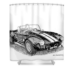 Shower Curtain featuring the painting 1967 Cobra Sc by Jack Pumphrey