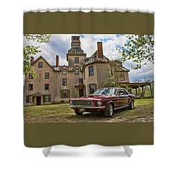 1967 Mustang At The Mansion Shower Curtain