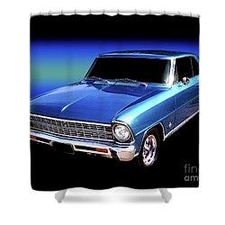 1967 Nova Ss Shower Curtain by Peter Piatt