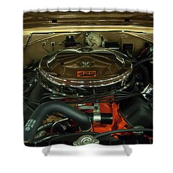 1967 Plymouth Belvedere Gtx 426 Hemi Motor Shower Curtain