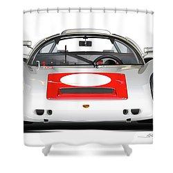 1967 Porsche 910 Illustration Shower Curtain