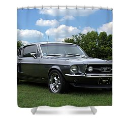 1967 Mustang Fast Back Shower Curtain by Tim McCullough