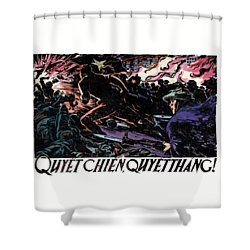 Shower Curtain featuring the painting 1968 North Vietnamese Propaganda by Historic Image