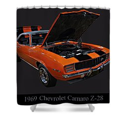1969 Chevy Camaro Z28 Shower Curtain by Chris Flees