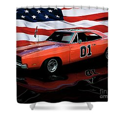 Shower Curtain featuring the photograph 1969 General Lee by Peter Piatt
