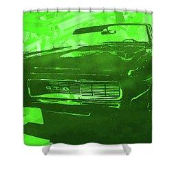 1969 Pontiac Gto Convertible Pop Green Shower Curtain