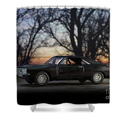 1969 Roadrunner Shower Curtain by Art Whitton