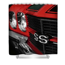 1970 Chevelle Ss396 Ss 396 Red Shower Curtain by Gordon Dean II