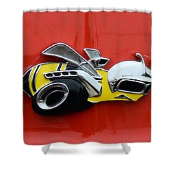 1970 Dodge Super Bee Emblem Shower Curtain by Paul Ward
