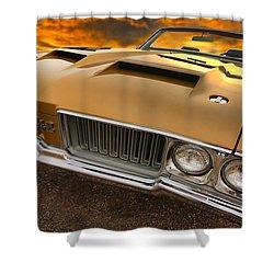 1970 Oldsmobile 442 W-30 Shower Curtain by Gordon Dean II
