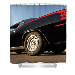 1970 Plymouth 440 'cuda Shower Curtain by Gordon Dean II