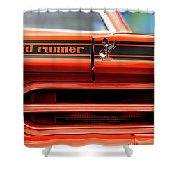 1970 Plymouth Road Runner - Vitamin C Orange Shower Curtain