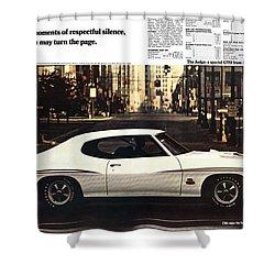 1970 Pontiac Gto The Judge  Shower Curtain by Digital Repro Depot