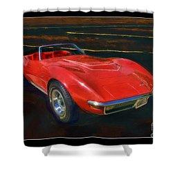1971 Chevy Corvette Lt1 Shower Curtain by Blake Richards