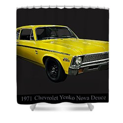 1971 Chevy Nova Yenko Deuce Shower Curtain