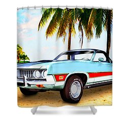 1971 Ford Ranchero At Three Palms - 5th Generation Of Ranchero Shower Curtain