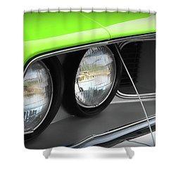 1971 Plymouth Barracuda Cuda Sublime Green Shower Curtain by Gordon Dean II