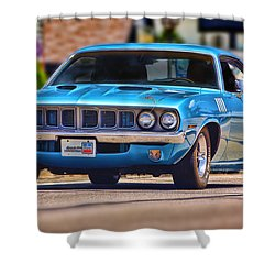 1971 Plymouth 'cuda 383 Shower Curtain
