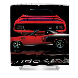 1971 Plymouth Cuda 440 Six Pack    Shower Curtain