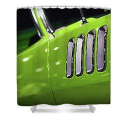 1971 Plymouth 'cuda Fender Gills Shower Curtain by Gordon Dean II