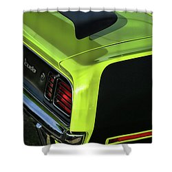 1971 Plymouth Hemicuda Hemi Cuda Barracuda Shower Curtain by Gordon Dean II