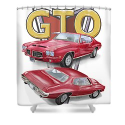 Shower Curtain featuring the digital art 1971 Pontiac Gto by Thomas J Herring