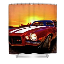 1971 Z28 Camaro Hdr Vivid Remembrance Shower Curtain